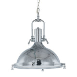 Lunac - Chrome Industrial Kitchen Island 1 Light Ceiling Pendant Lamp-Ceiling Lamp-Belle Fierté