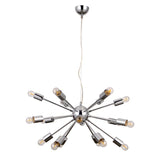 Nova- Modern 18 Light Chrome Ceiling Lamp, Contemporary Chandelier-Ceiling Lamp-Belle Fierté