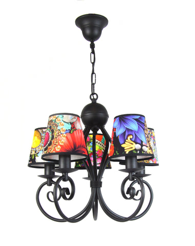 Colourful Pattern Chandelier-Chandelier-Belle Fierté