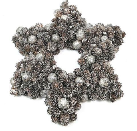 Door Wreath - Cone Star Shaped Christmas Home Door Decoration-Christmas Decorations-Belle Fierté