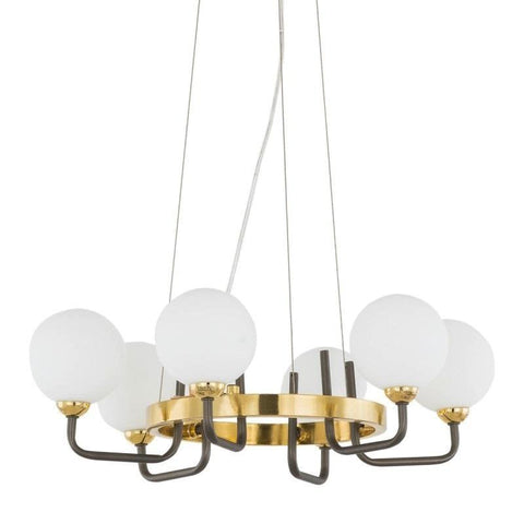 Emilia- Contemporary 6 Light Glass Ceiling Lamp, Modern Chandelier-Ceiling Lamp-Belle Fierté
