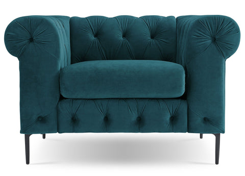 Modena - Contemporary Velvet Tufted Armchair-Armchair-Belle Fierté