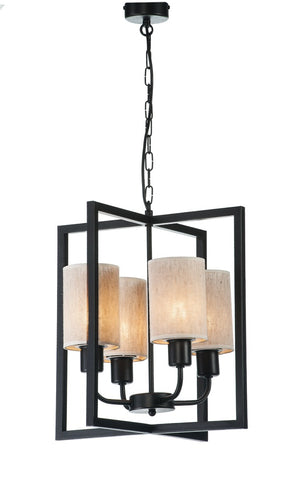 ANATALE - Rustic Farmhouse Lantern Pendant Light, Metal Shade Chandelier-Ceiling Lamp-Belle Fierté