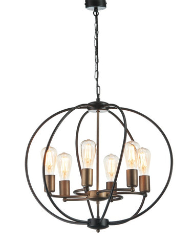 Amo - Rustic Farmhouse Oval Pendant Light, Industrial Style Chandelier-Chandelier-Belle Fierté
