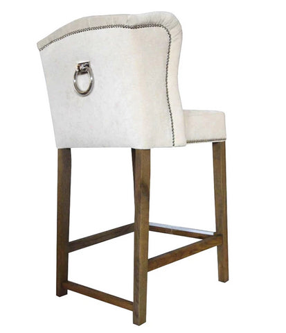 Abigail - Backwing Kitchen Stool, Studded Knocker Breakfast Bar Chair-Bar chair-Belle Fierté