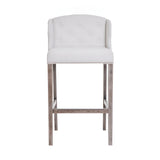 Evelyn - Buttoned Kitchen Stool, Shabby Chic Studded Breakfast Bar Chair-Bar chair-Belle Fierté