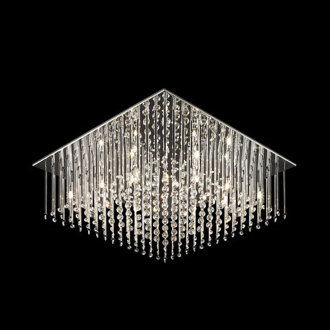 Alessio - Luxury Flush Ceiling Light, Elegant Crystal Chandelier-Ceiling Lamp-Belle Fierté