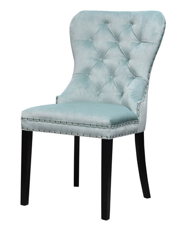 Madison II - Chesterfield Velvet Dining Chair-Chair-Belle Fierté
