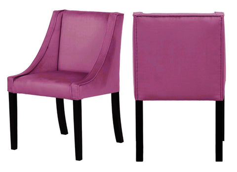 Erica - Rose Pink Velvet Dining Chair, Set of 2-Chair Set-Belle Fierté