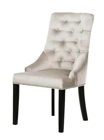 Carolyn - Velvet Nailhead Dining Chair-Chair-Belle Fierté