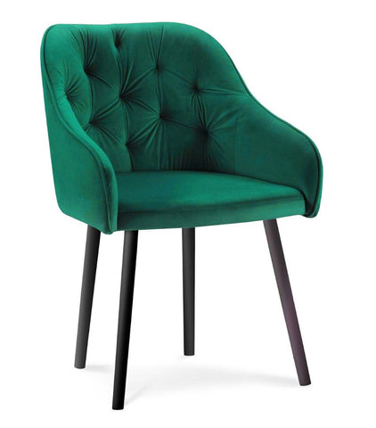 Bergen - Tufted Velvet Dining Chair-Chair-Belle Fierté