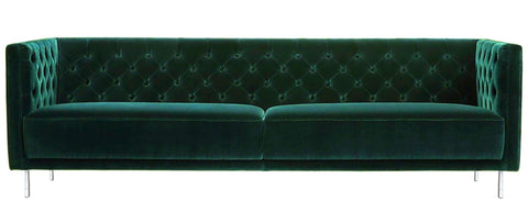 Bolton - Contemporary Chesterfield Velvet Sofa-Sofa-Belle Fierté