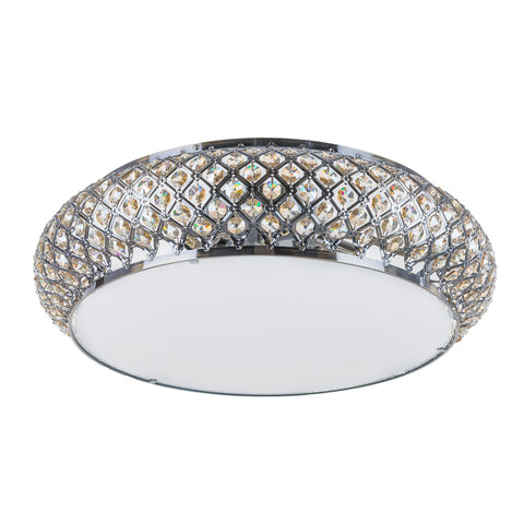 Eva - Luxury Flush Ceiling Light, Elegant Crystal Chandelier-Ceiling Lamp-Belle Fierté