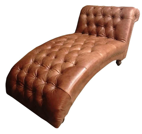 Blackheath - Genuine Leather Chesterfield Chaise Lounge-Sofa-Belle Fierté