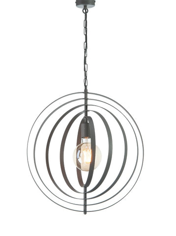 Younes - Industrial Black Geometric Ceiling Lamp-Ceiling Lamp-Belle Fierté