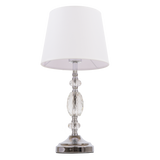 RIO- Glamour White Crystal 47cm Table Lamp-Table Lamp-Belle Fierté