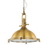 Luna - Gold Industrial Retro Vintage Kitchen Island 1 Light Ceiling Pendant Lamp-Ceiling Lamp-Belle Fierté
