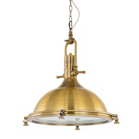 Lunac - Gold Industrial Retro Vintage Kitchen Island 1 Light Ceiling Pendant Lamp-Ceiling Lamp-Belle Fierté