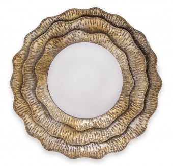 Gael - Contemporary Metal Mirror, House Wall Decoration-Mirrors-Belle Fierté