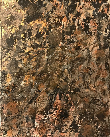 "Abstract Acrylic Canvas, Handmade Painting - ""Copper""-Wall art-Belle Fierté"