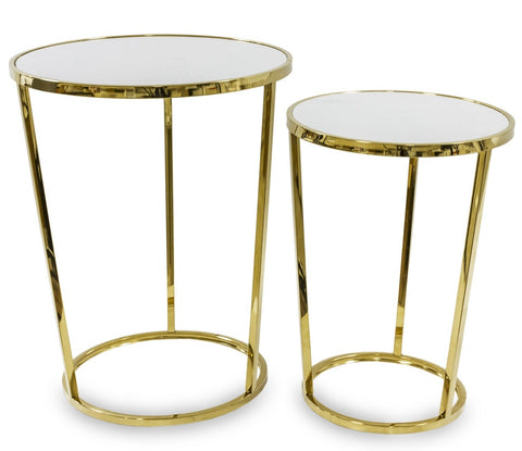 SATO - 2 Piece Nest of Tables, Pair of Side Tables-Side Tables-Belle Fierté