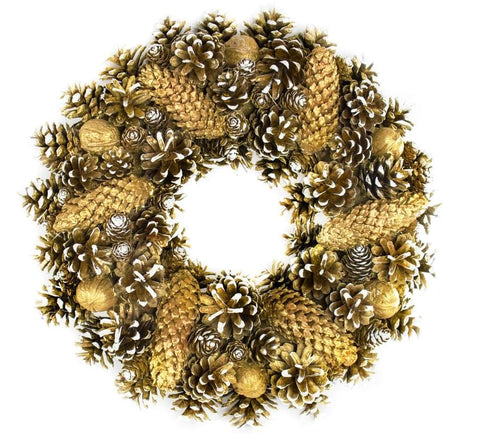 Door Wreath - Gold Christmas Home Door Decoration-Christmas Decorations-Belle Fierté