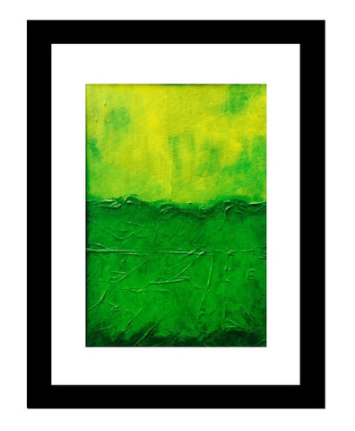 Framed Small Acrylic Canvas Painting - Green-Wall art-Belle Fierté