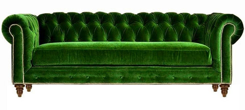 Sarah - 3 Seater Chesterfield Velvet Sofa-Sofa-Belle Fierté