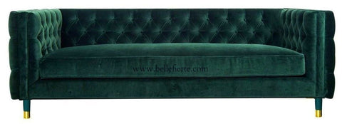 Acerra - 2 Seater Contemporary Chesterfield Velvet Sofa-Sofa-Belle Fierté