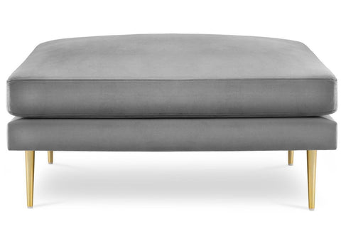 Presto - Velvet Ottoman, Upholstered Coffee Table-Benches & Ottomans-Belle Fierté