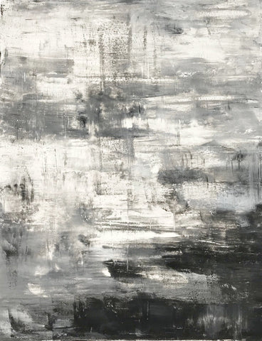 "Abstract Painting on Canvas, Handmade Acrylic Painting - ""Grey 2""-Wall art-Belle Fierté"