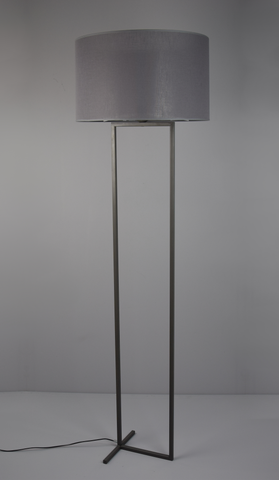 Laure - Grey Shade Floor Standing Lamp-Floor Lamp-Belle Fierté