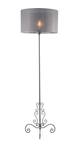 Manon - Grey Shade Floor Standing Lamp-Floor Lamp-Belle Fierté
