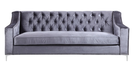 Alexa - Luxury 3 Seater Tuffed Velvet Sofa-Sofa-Belle Fierté