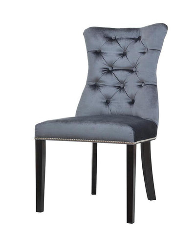 Eden - Back Knocker Ring Velvet Dining Chair-Chair-Belle Fierté