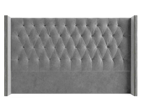 Shelly - Double Wing Studded Floor Standing Headboard-Headboards-Belle Fierté
