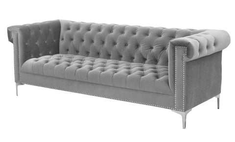 Ferrata - Contemporary 3 Seater Tufted Velvet Sofa-Sofa-Belle Fierté