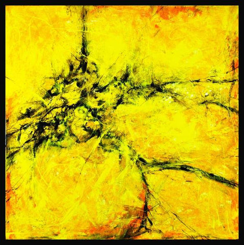 "Hand Painted Extra Large Original Acrylic Canvas Abstract Painting - ""Yellow""-Wall art-Belle Fierté"
