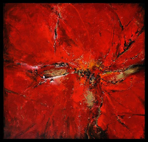 "Handmade Original Acrylic Fine Canvas Abstract Painting 80x80cm - ""Red""-Wall art-Belle Fierté"