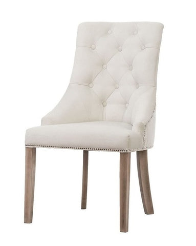 Savannah - Chesterfield Knocker Ring Velvet Dining Chair - Belle Fierté
