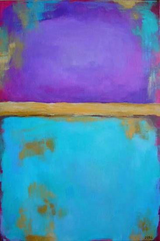 "Handmade Original Acrylic Canvas Abstract Painting 40x60cm - ""Purple""-Wall art-Belle Fierté"