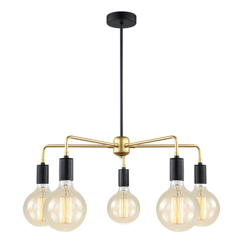Chiara- Industrial Modern 5 Light Ceiling Pendant Lamp-Ceiling Lamp-Belle Fierté