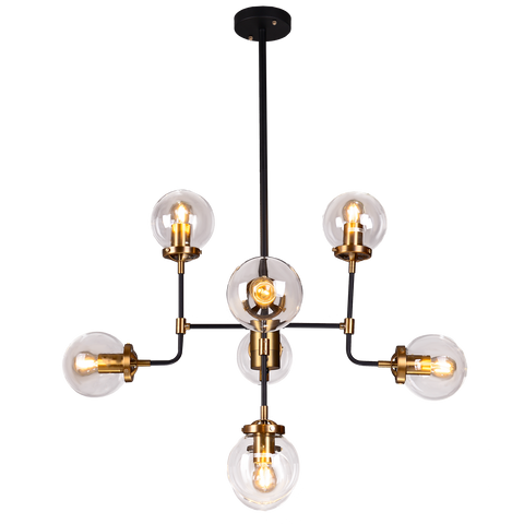 Giorgio - Modern Loft Style Chandelier, 8 Light Large Industrial Style Ceiling Lamp - Belle Fierté