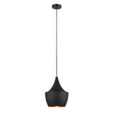 Lea - Industrial 1 Light Black Ceiling Pendant Lamp-Ceiling Lamp-Belle Fierté