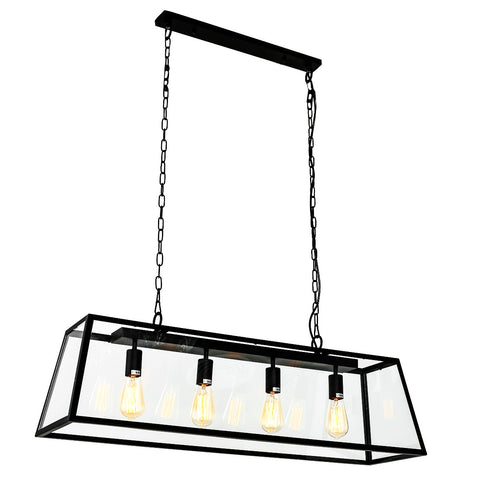 Gaia- Industrial Type 4 Light Kitchen Dining Room Ceiling Pendant Lamp-Ceiling Lamp-Belle Fierté