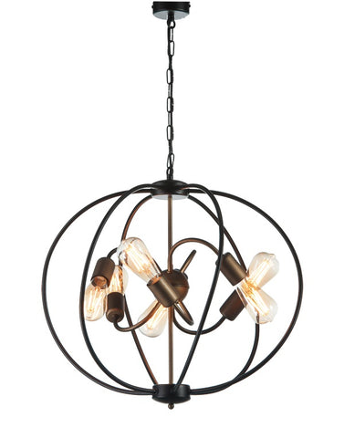 COME - 6 Light Industrial Oval Pendant Light-Ceiling Lamp-Belle Fierté