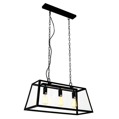 Gaia- Industrial Type 3 Light Kitchen Dining Room Ceiling Pendant Lamp-Ceiling Lamp-Belle Fierté