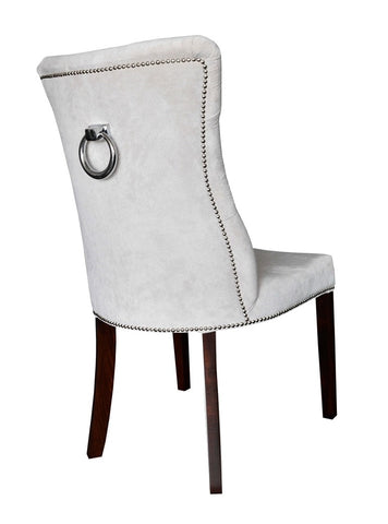 Matilde - Tufted Studded Back Ring Velvet Dining Chair-Chair-Belle Fierté