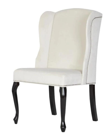 Padva - Wing Nailhead Dining Chair-Chair-Belle Fierté