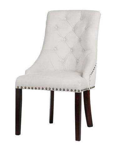 Valeria - Chesterfield Studded Velvet Dining Chair-Chair-Belle Fierté